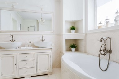 Victorian White Bathroom Design